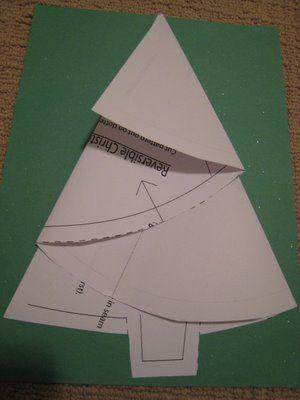 Fold up christmas tree pattern