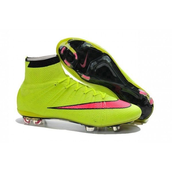 2015 Nike Mercurial Superfly Mens Firm-Ground Soccer Cleats Yellow Red