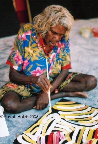 Minnie Pwerle is an artist from the Utopia Community, NorthernTerritory Australia, specialising in contemporary Indigenous Australian art.  She began painting in 2000 at about the age of 80.