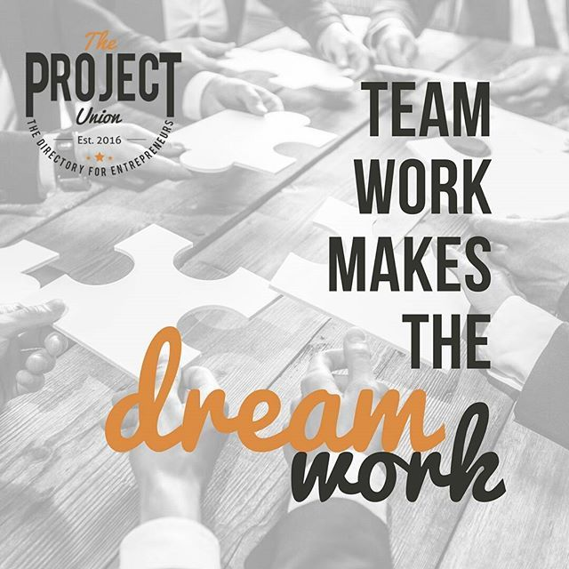 My first boss used to say this all the time.... and it's one that's stuck with me throughout the years #theprojectunion #teamwork #outsourcing #directory #collaboration #project #smallbusiness #entrepreneur #startup