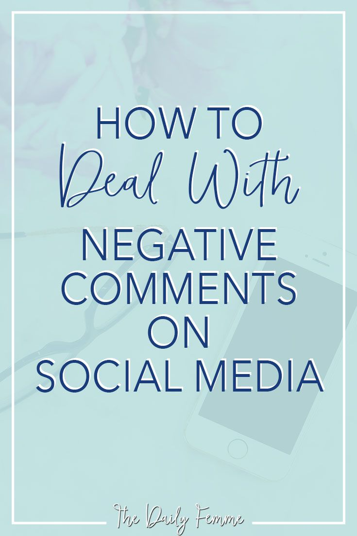 Have you ever been caught up in an online battle or maybe you were the victim of nasty comment? Learn how to deal with negative comments in a classy way.