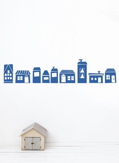 Superb Einfach H user Wandsticker the village von ferm LIVING kinderzimmer