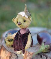 Little Eggplant bear by Lesya Gogol on Bear Pile