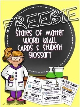 This download includes a word wall for your States of Matter science unit as well as a student glossary for students to keep track of that new vocabulary! This product is included in my Inquiry Matters: A Comprehensive Unit All About Matter. Be sure to check out my store if you'd like to see more!