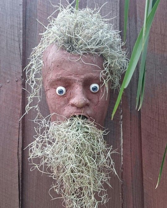 Freaky face for the fence in the yard.