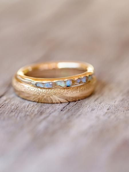 Opal Fossil Ring in Gold // Hidden Gems Opal just never bores!