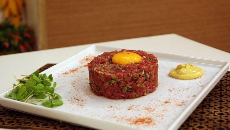 Aprenda a fazer a receita de Steak Tartar de Miolo de Alcatra