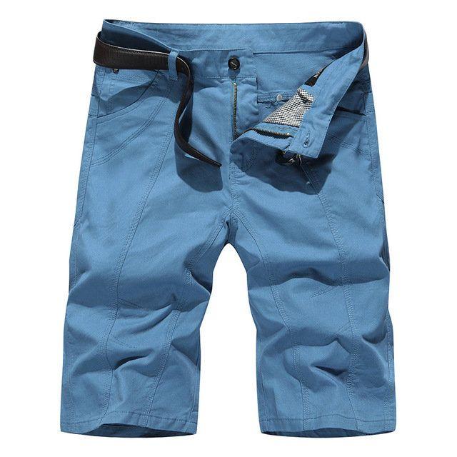 Exclusive For Men's Casual Pants, Solid Color, Non-iron Treatment, Cotton Shorts, Five Points, Pants, 7 Points, Pants, B