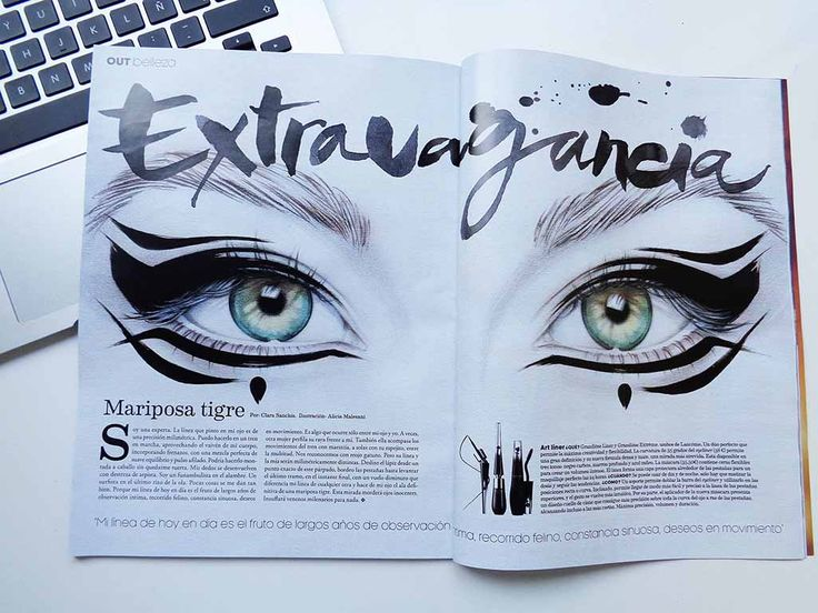 Alicia Malesani - Illustration and Calligraphy for Magazine Fashion&Arts /LA VANGUARDIA-Spain - May 2016