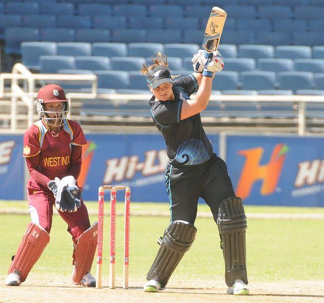Suzie Bates in action - West Indies v. New Zealand