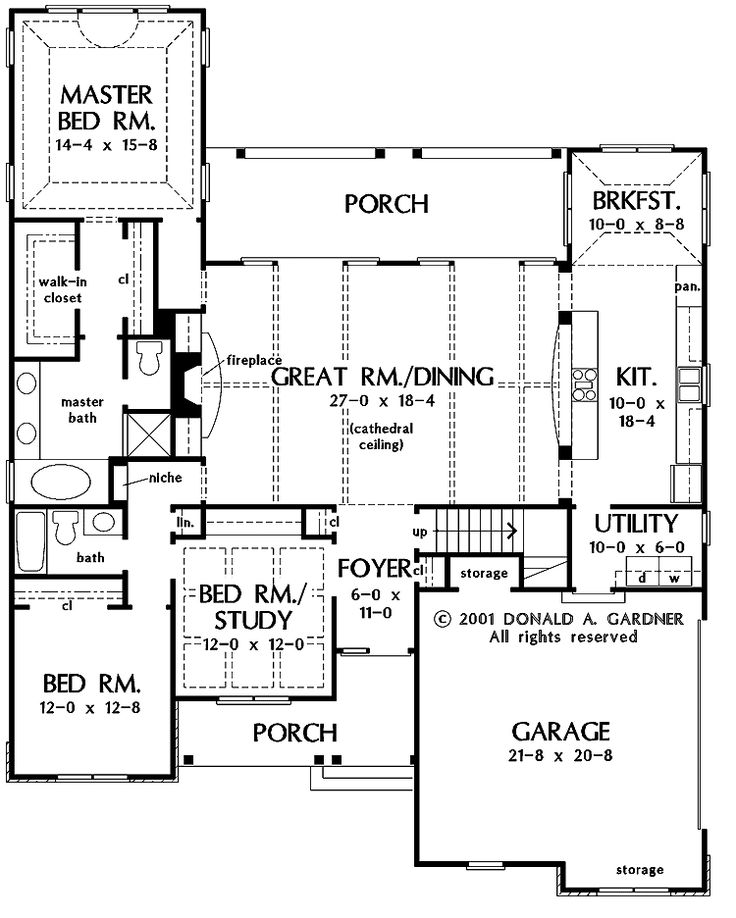 1938sq ft open floor plan lrdrkit open like most of this - Open House Plans
