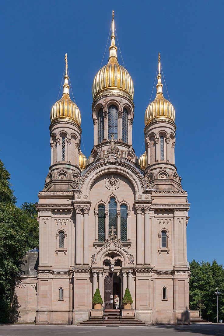 MK7010 Russische Kapelle - Russisch-Orthodoxe Kirche (Wiesbaden) – Wikipedia. Foto Martin Kraft