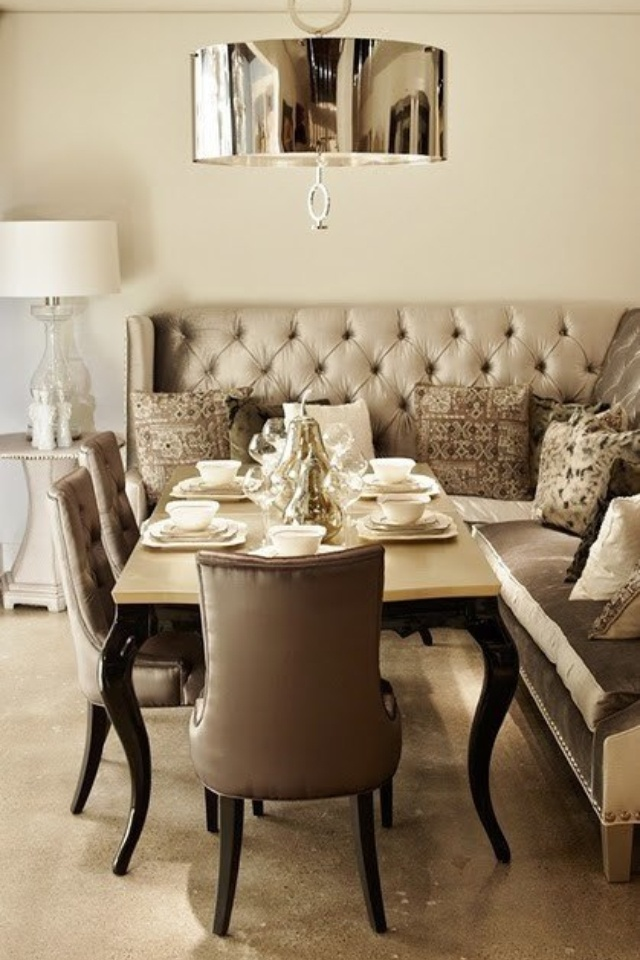 Perfect Dining Room; Neutral Color Palette