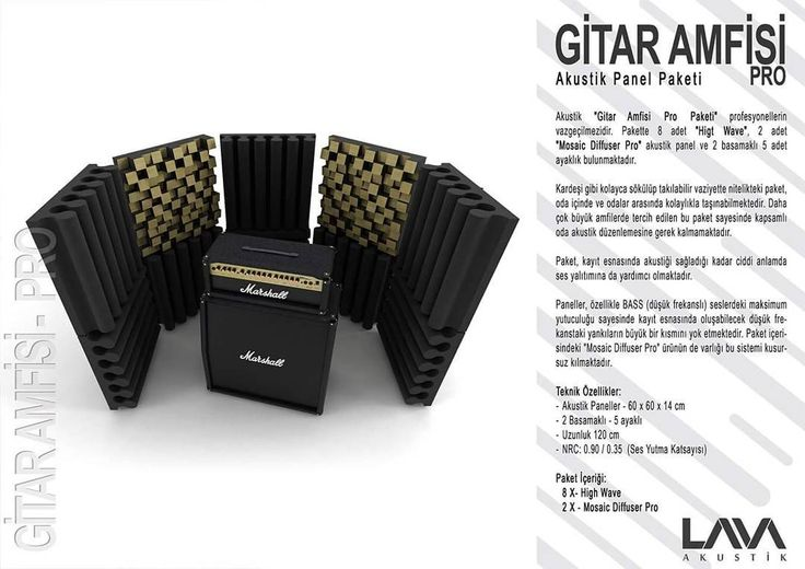 Gitar Amfisi Pro Akustik Panel Paketi www.muzikenstrumani.com #lavaakustik #lava #akustik #acoustic #acustic #panel #music