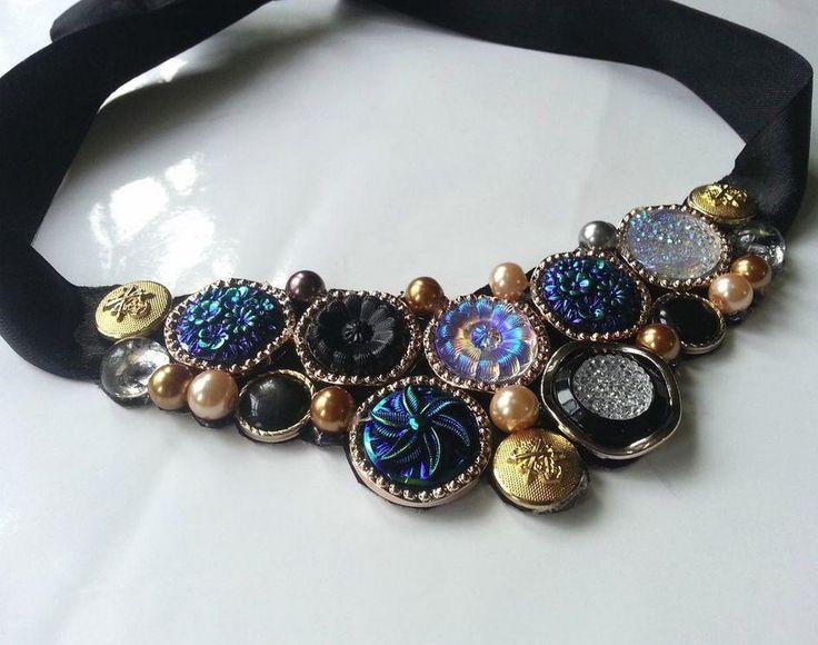 Best DIY Statement Necklace Images On Pinterest Diy Necklace - Bright diy layered button necklace
