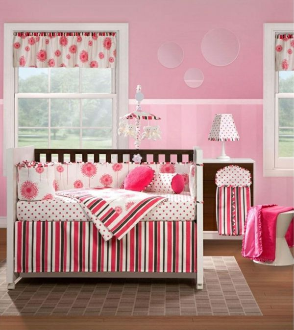 Altrosa Wandfarbe Kinderzimmer Hocker Kurze Gardine