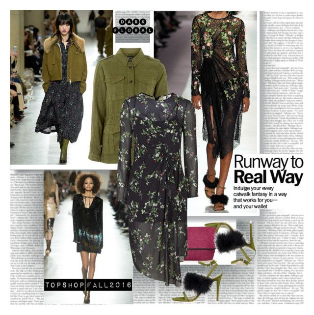 Dark Florals by stylepersonal on Polyvore featuring polyvore, Topshop Unique, Topshop, fashion, style, clothing, dress, topshop and trendreport