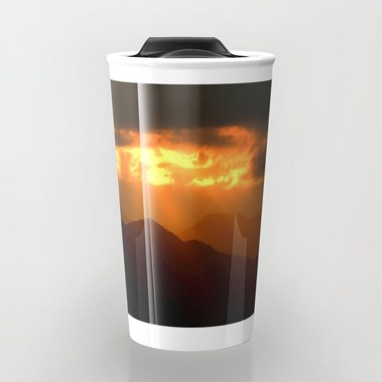 Rays From The Sky Travel Mug