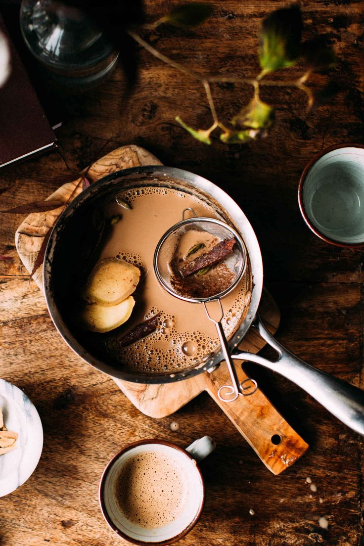 Authentic Homemade Indian Masala Chai | Foodess | @foodess