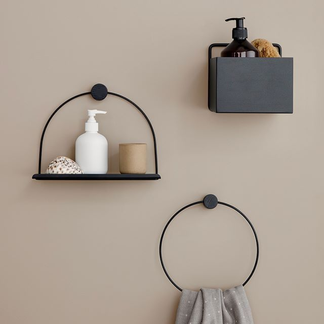 Bathroom Accessories Ferm Living Bathroom Shelf And Towel Holder
