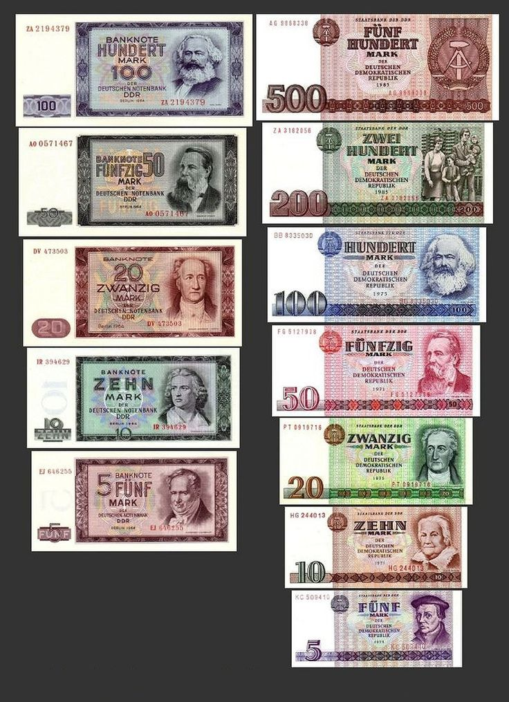 *** 5, 10, 20, 50, 100, 200, 500 DDR Mark Geldscheine 1964,1971 - Alte Währung 2 Sätze - Alte DDR Währung - Pick 22 - 33 - Reproduktion ***: Amazon.de: Spielzeug
