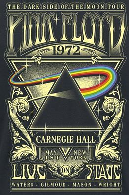 The Dark Side of the Moon Tour | Pink Floyd at Carnegie Hall | 1972 | #concert #poster #music #música #ilustração #illustration #pinkfloyd