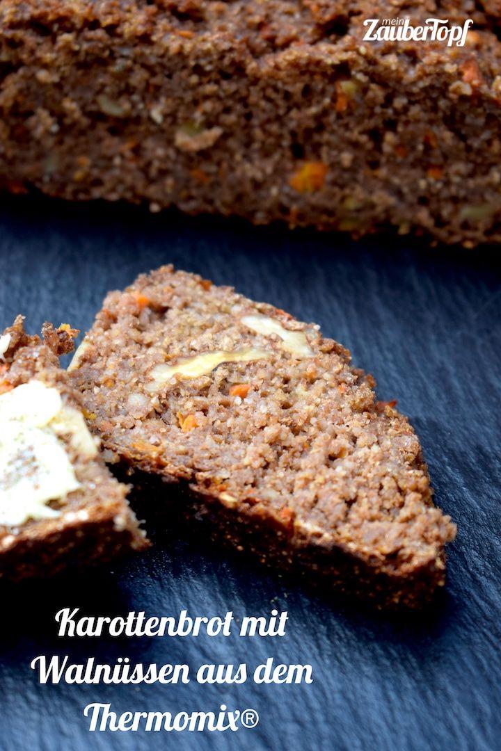 Karottenbrot mit Walnüssen aus dem Thermomix® – Foto: Nicole Stroschein