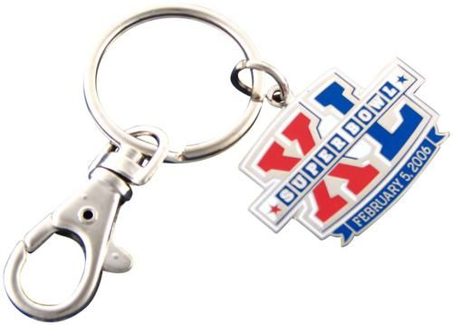 Super Bowl XL (40) Key Chain with clip Keychain NFL