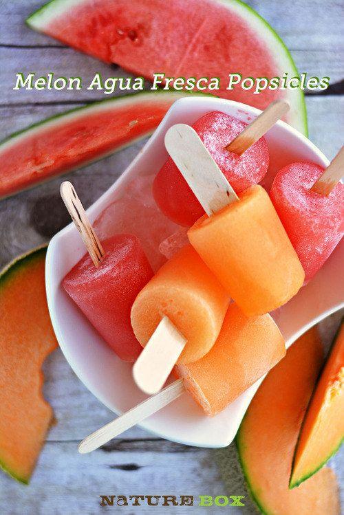 Paletas de melón agua fresca |