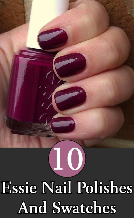 Best Essie Nail Polishes And Swatches. I like a few of them, like this one here in the picture and a red glitter one that is listed.