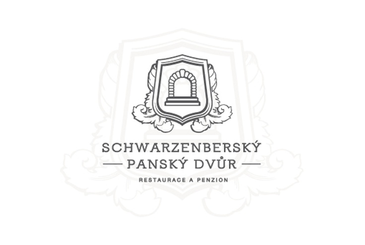 Logotype of restaurant and pension.