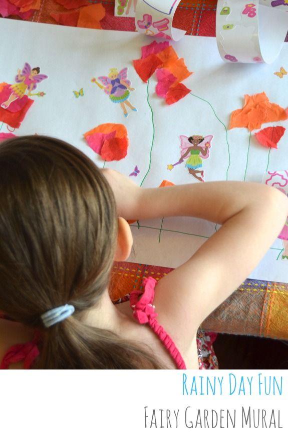 Rainy Day Fun: Fairy Flower Garden Mural