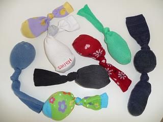 Make Happy Socks with an old sock, a little batting and a little catnip.