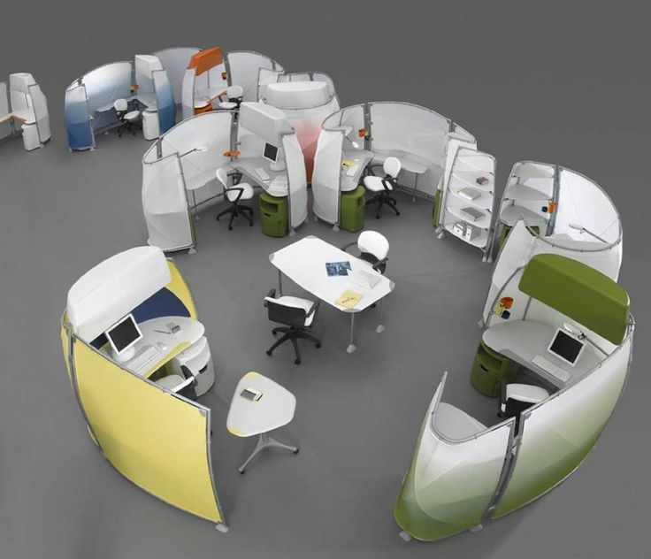 Office U0026 Workspace, : Futuristic Oval Office Cubicle Design Ideas With  Colorful Nuance, Small