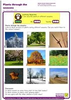 Outstanding Science Year 1 - Seasonal changes | Plants through the seasons