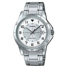 Casio Jam Tangan Analog Pria - Silver - Strap Stainless Steel - MTP-V008D-7BUDF