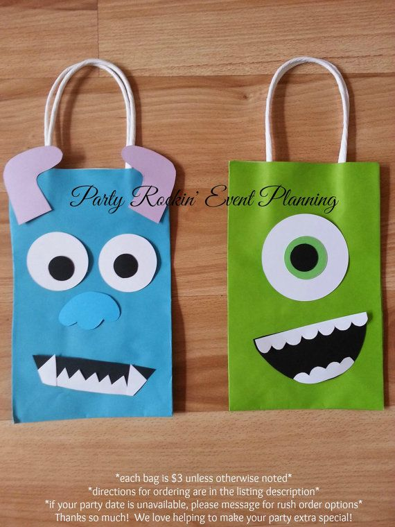 Bolsas de regalo de fiesta Favor de Monsters Inc!
