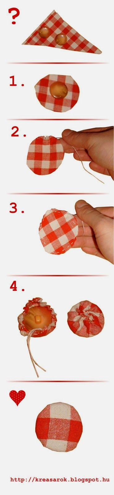 How to make fabric covered button?