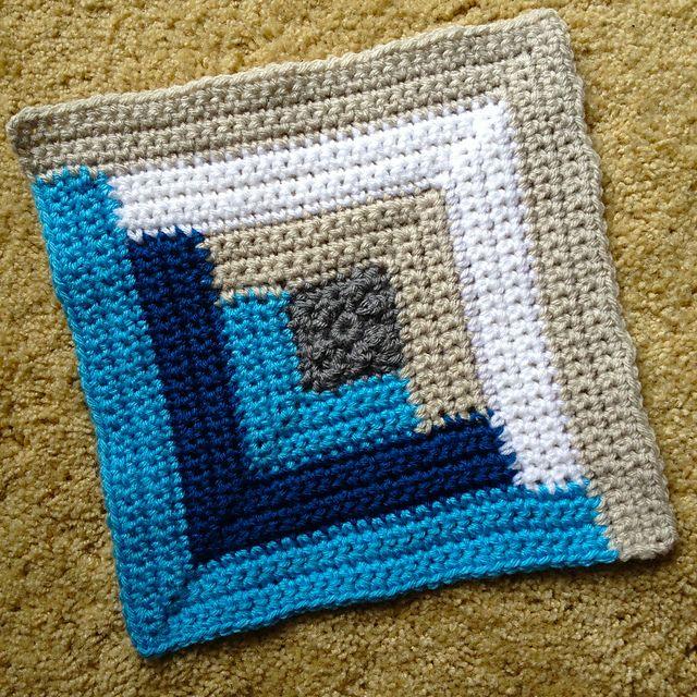 192 best images about crochet mitered log cabin on for Log cabin blanket