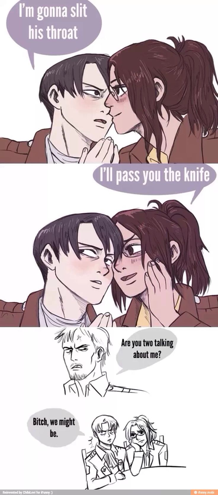 I'll pass you the knife, Levi