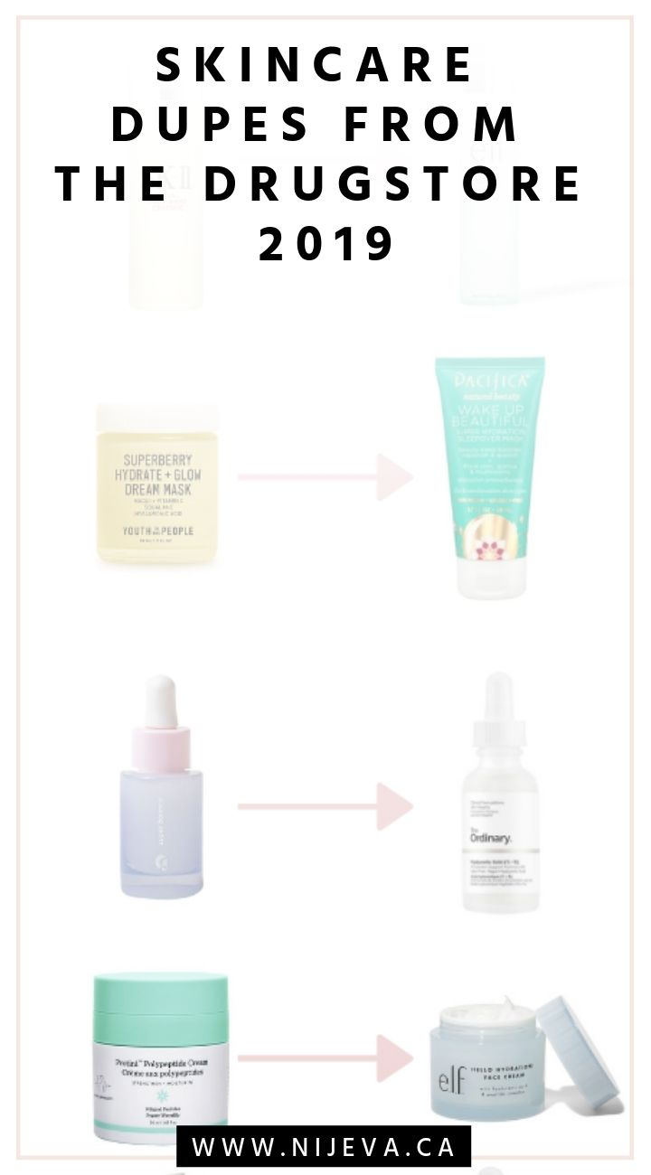 Highend Skincare Dupes From The Drugstore 2019 Nijeva The Blog Skincare Dupes Highend Skincare Affordable Skin Care
