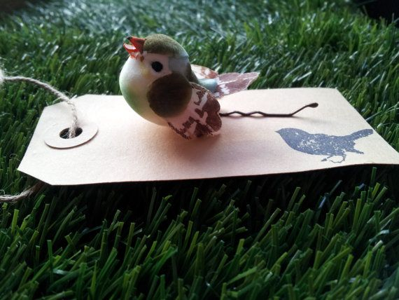 Green woodland bird hair pin by campkoodle on Etsy, $5.00
