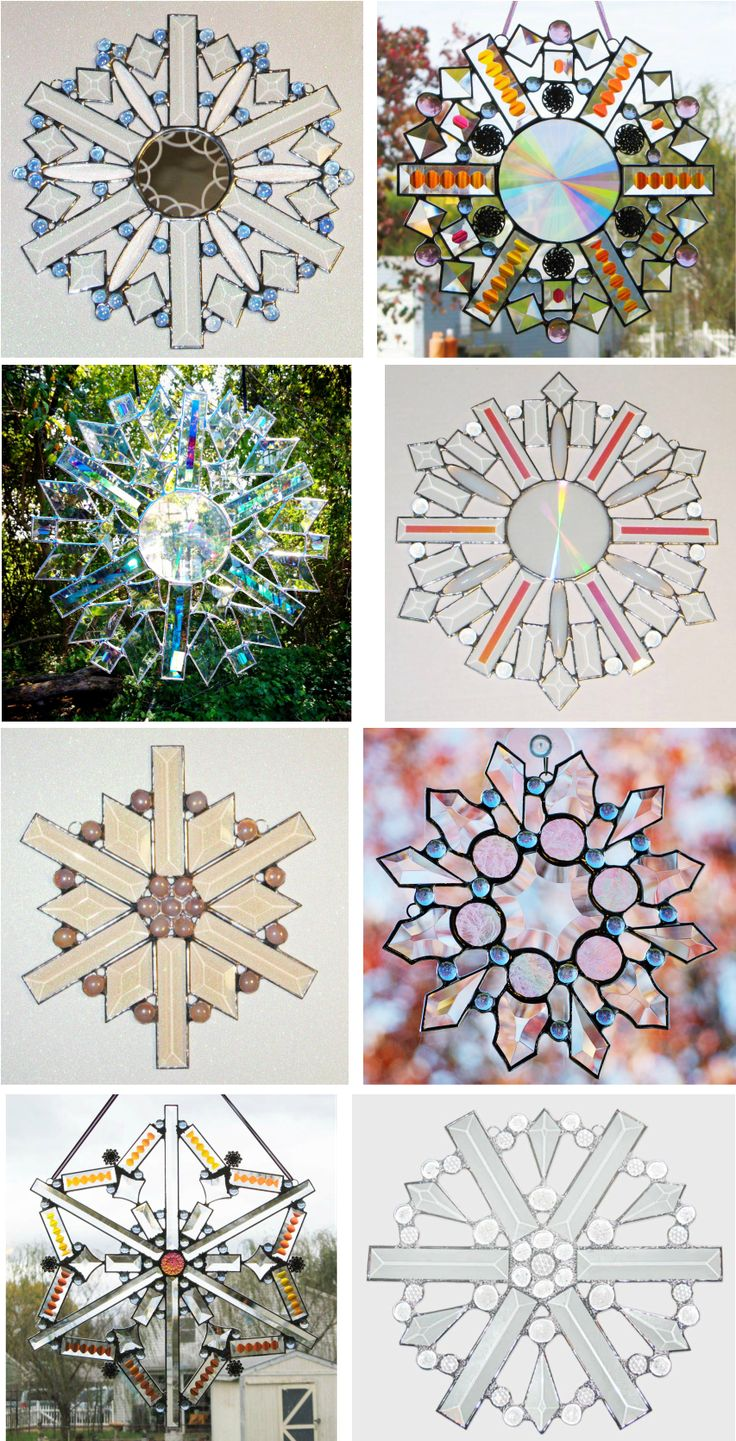 Just a few of the stained glass snowflakes I have made over the past couple of years.