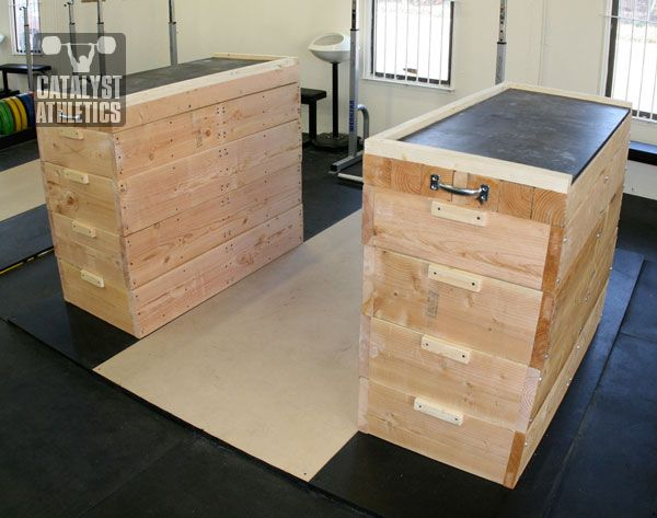 Jerk block building tutorial by greg everett equipment for Plyo box template