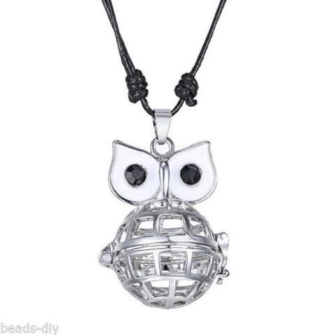 BD Owl-shaped Musical Pregnancy Antenatal Training Adjustable Pendant Necklace