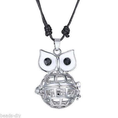 BD Owl-shaped Musical Pregnancy Antenatal Training Adjustable Pendant Necklace