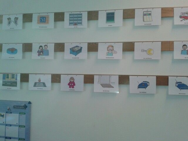 Woordkaarten thema thuis van Kleuterplein.