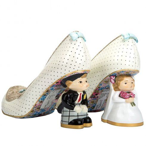 Irregular Choice I Do, quirky wedding shoes with bride and groom shaped character heels