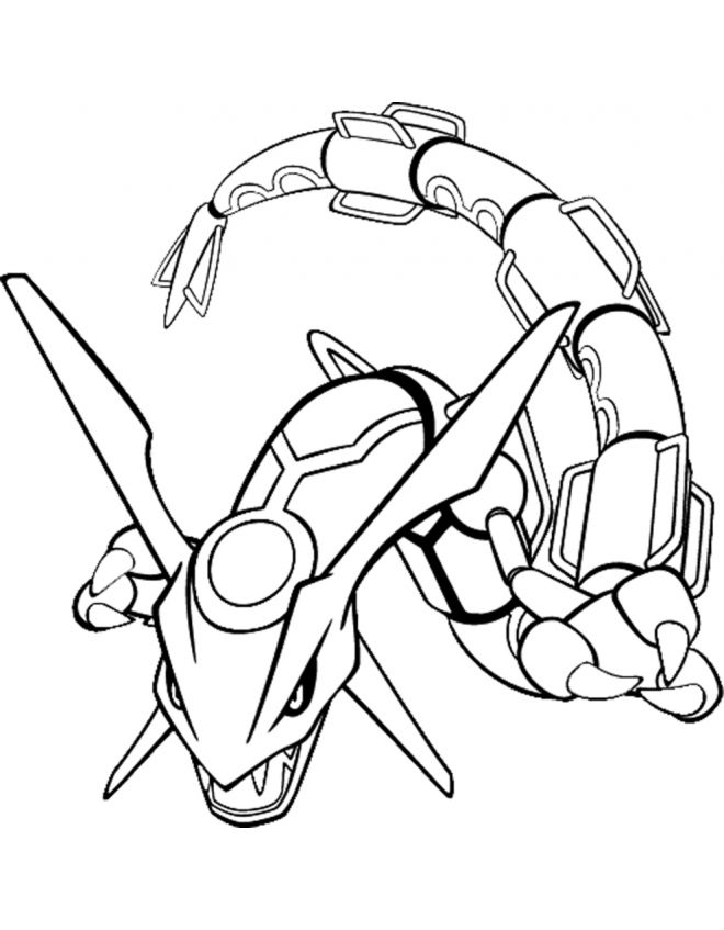 Rayquaza pokemon Colouring Pages