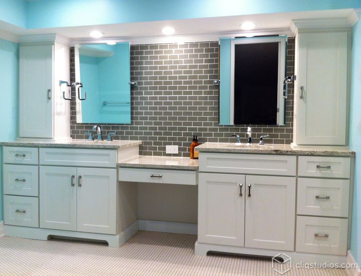 17 best images about bathroom vanity cabinets on pinterest shaker cabinets bathroom vanity for Built in bathroom vanities and cabinets